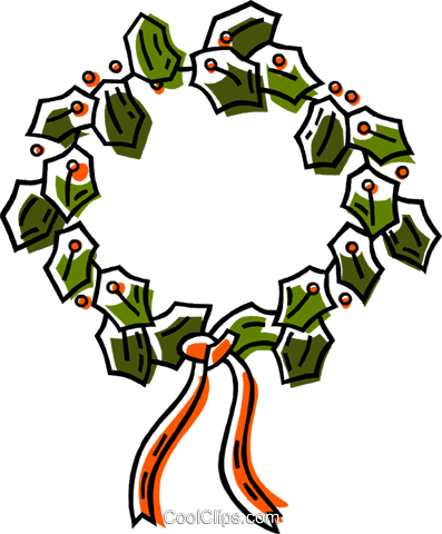 Christmas wreaths Royalty Free Vector Clip Art illustration vc033542