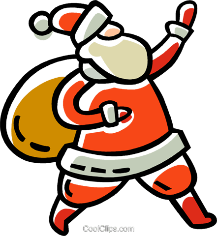 Santa Royalty Free Vector Clip Art illustration vc033543