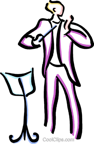 conductor Royalty Free Vector Clip Art illustration vc033593