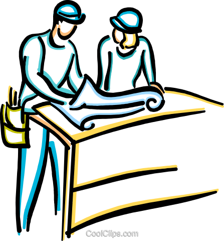construction foremen Royalty Free Vector Clip Art illustration vc033623