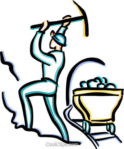 coal miner Royalty Free Vector Clip Art illustration vc033634