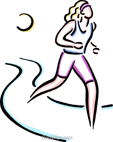 woman jogging Royalty Free Vector Clip Art illustration vc033649