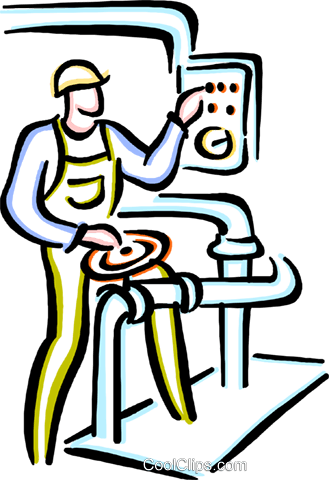 factory worker Royalty Free Vector Clip Art illustration vc033670