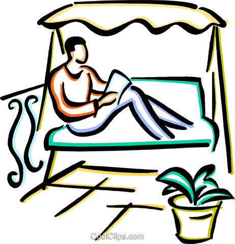 person reading a book Royalty Free Vector Clip Art illustration vc033671