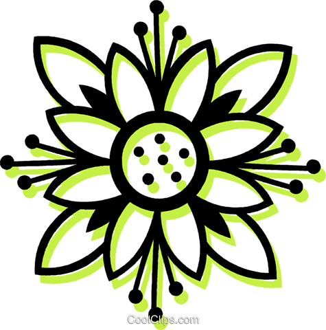 decorative floral design Royalty Free Vector Clip Art illustration vc033704
