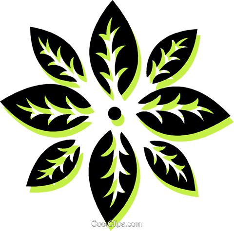 decorative floral design Royalty Free Vector Clip Art illustration vc033706