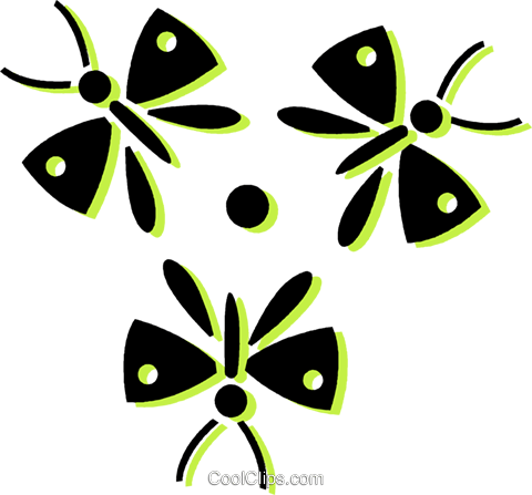 butterflies Royalty Free Vector Clip Art illustration vc033720