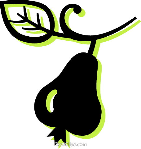 pear Royalty Free Vector Clip Art illustration vc033721