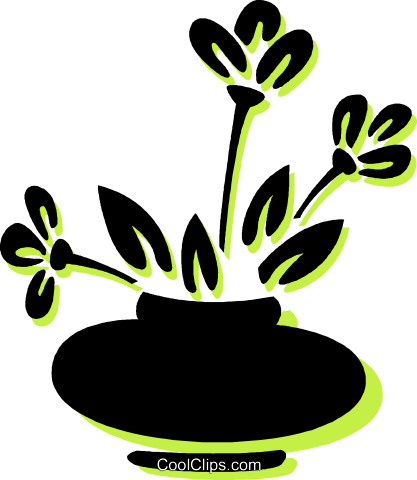 potted plant Royalty Free Vector Clip Art illustration vc033740