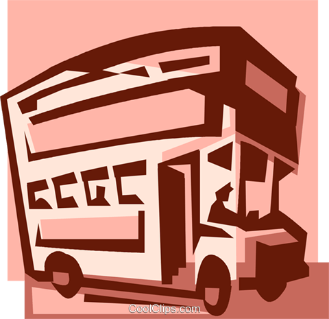 double decker bus Royalty Free Vector Clip Art illustration vc033942