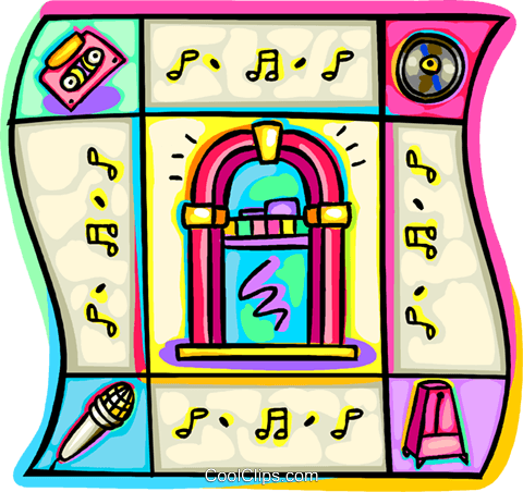 Jukeboxes Royalty Free Vector Clip Art illustration vc034025