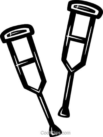 杖 免版税矢量剪贴画插图