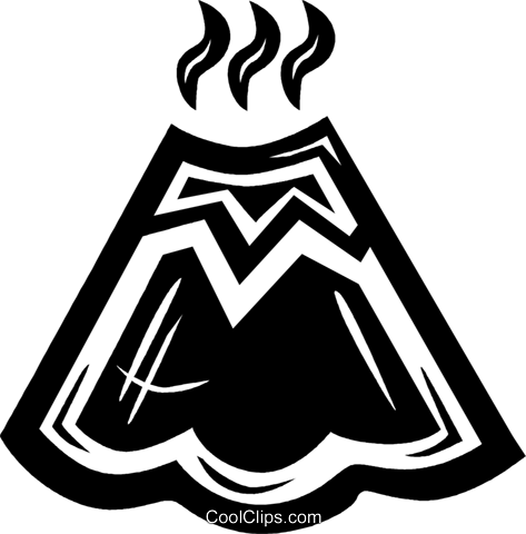 volcanoes Royalty Free Vector Clip Art illustration vc034233