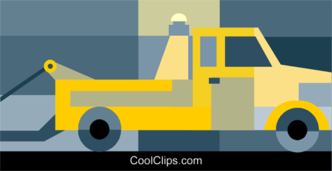 Tow truck Royalty Free Vector Clip Art illustration vc034363