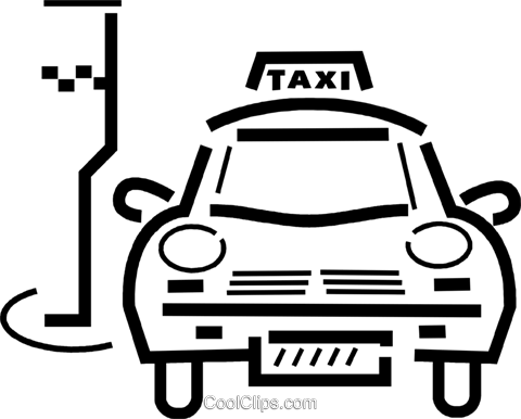 Taxis Royalty Free Vector Clip Art illustration vc034414