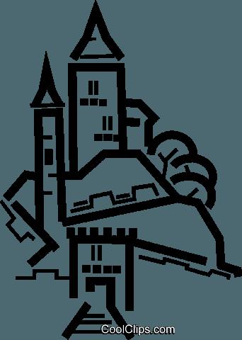 欧式建筑 免版税矢量剪贴画插图