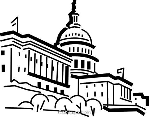 Capitol building Royalty Free Vector Clip Art illustration vc034475