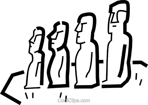 Easter Island Royalty Free Vector Clip Art illustration vc034505