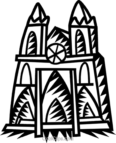 church Royalty Free Vector Clip Art illustration vc034600