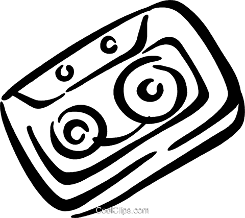 cassette tape Royalty Free Vector Clip Art illustration vc034699