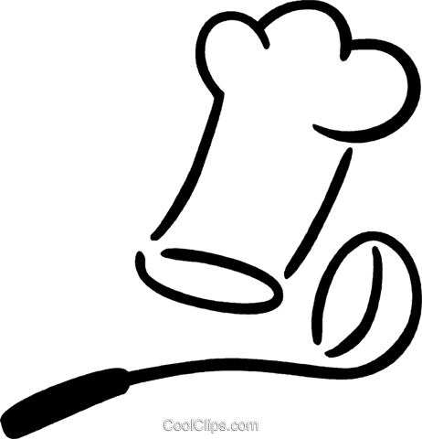 厨师帽,包 免版税矢量剪贴画插图