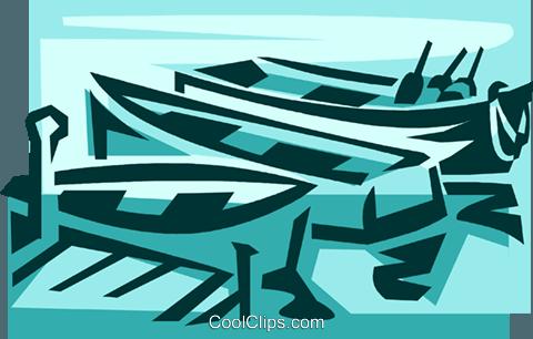 船筷子粘贴画-船 免版税矢量剪贴画插图