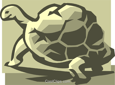 turtle Royalty Free Vector Clip Art illustration vc035852