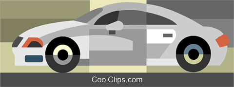 Sports car Royalty Free Vector Clip Art illustration vc036051