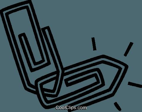 Buroklammern Vektor Clipart Bild Vc036187 Coolclips Com