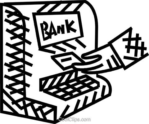 bank machine Royalty Free Vector Clip Art illustration vc036508