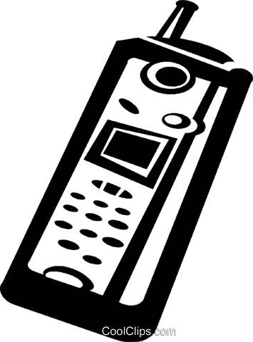 cellular phone Royalty Free Vector Clip Art illustration vc036564