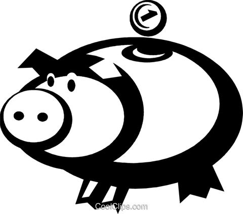 piggy bank Royalty Free Vector Clip Art illustration vc036702