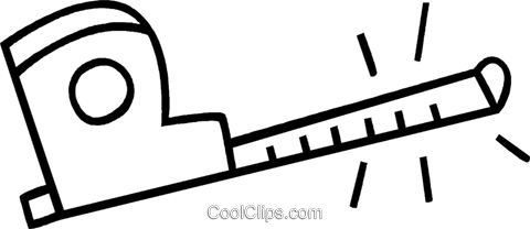 tape measure Royalty Free Vector Clip Art illustration vc036862