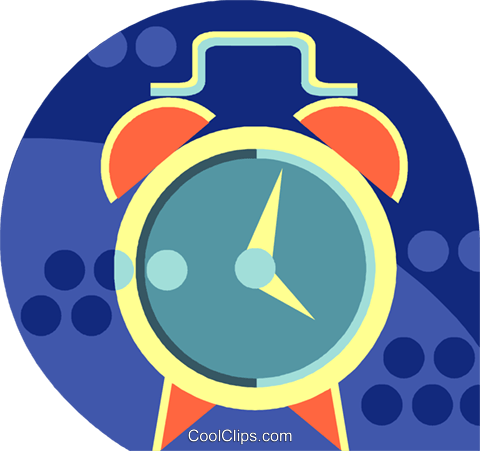 Alarm Clocks Royalty Free Vector Clip Art illustration vc037205