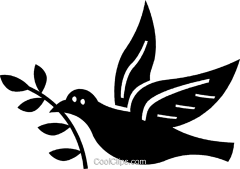 Peace Dove Royalty Free Vector Clip Art illustration vc037231