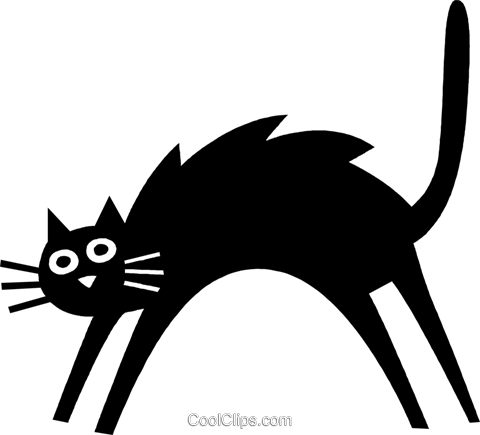 cat Royalty Free Vector Clip Art illustration vc037241