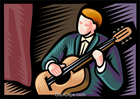 Accoustic Royalty Free Vector Clip Art illustration vc037260