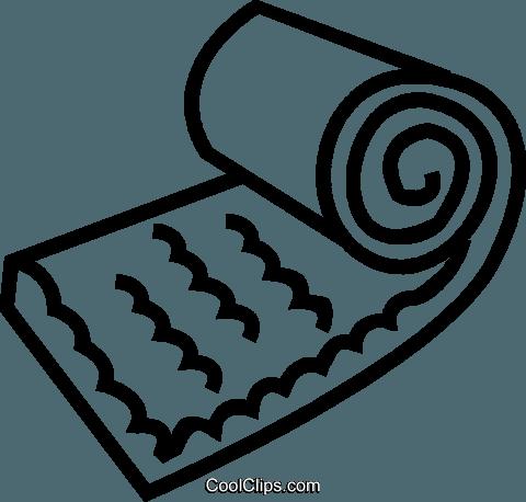 Camping Mattress Royalty Free Vector Clip Art Illustration Vc037359