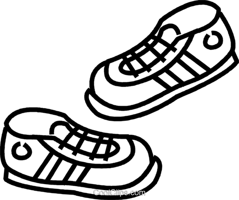 running shoes Royalty Free Vector Clip Art illustration vc037372