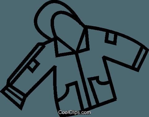 Winter Coat Royalty Free Vector Clip Art Illustration Vc037384