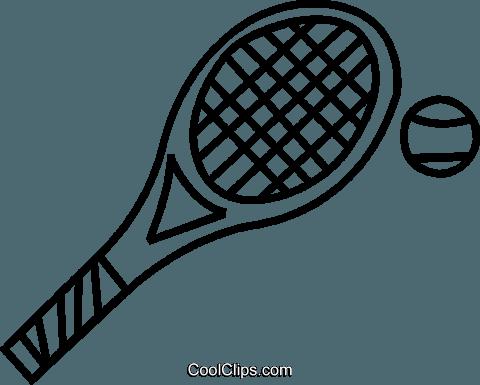 Tennis Racket Royalty Free Vector Clip Art Illustration Vc037463