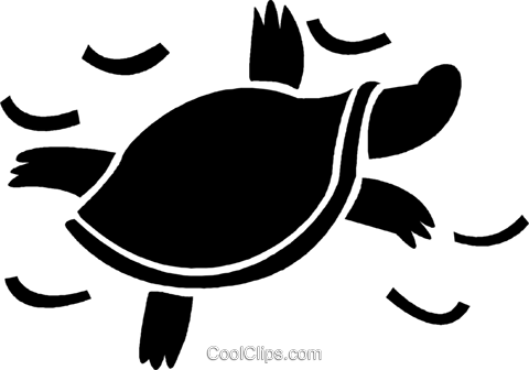 turtle Royalty Free Vector Clip Art illustration vc037507