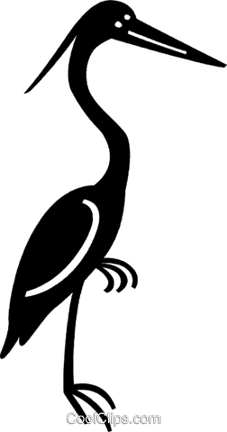 stork Royalty Free Vector Clip Art illustration vc037621