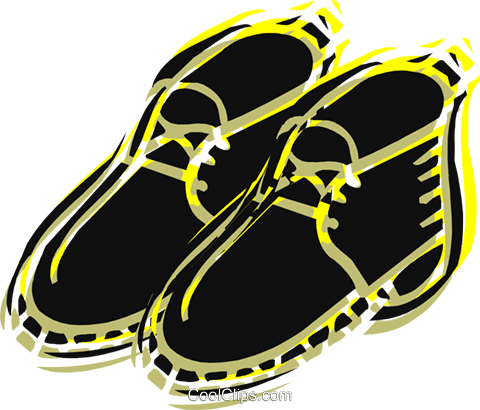 Hiking boot Royalty Free Vector Clip Art illustration vc037651