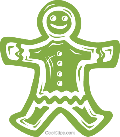 gingerbread cookie Royalty Free Vector Clip Art illustration vc037706