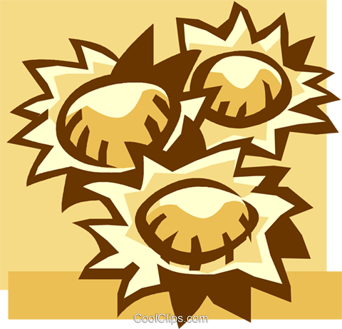 sunflowers Royalty Free Vector Clip Art illustration vc037878