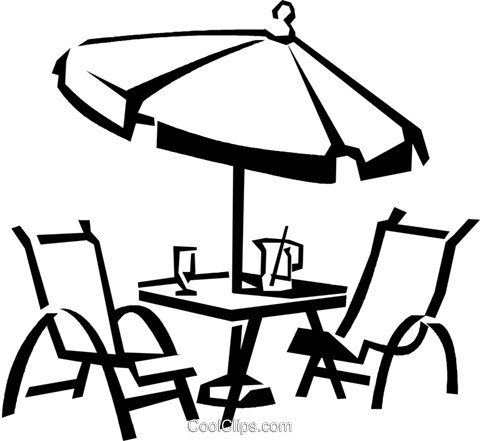 Patio Furniture Vektor Clipart Bild