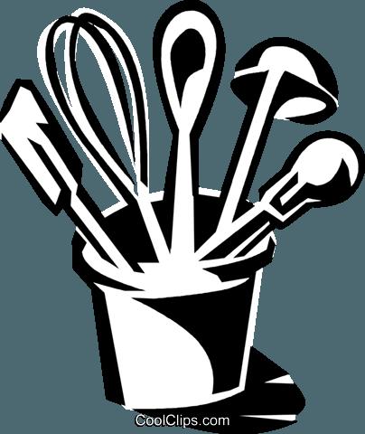 Kitchen Black And White Clip Art