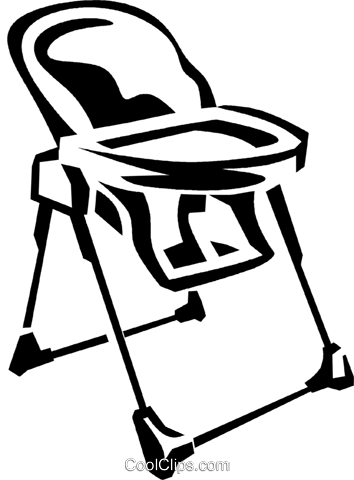 high chair  sc 1 st  CoolCLIPS.com & high chair Royalty Free Vector Clip Art illustration -vc038184 ...
