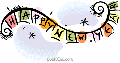 New Year's banner Royalty Free Vector Clip Art illustration vc038382